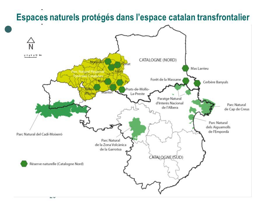20 Espaces naturels protégés dans lespace catalan transfrontalier