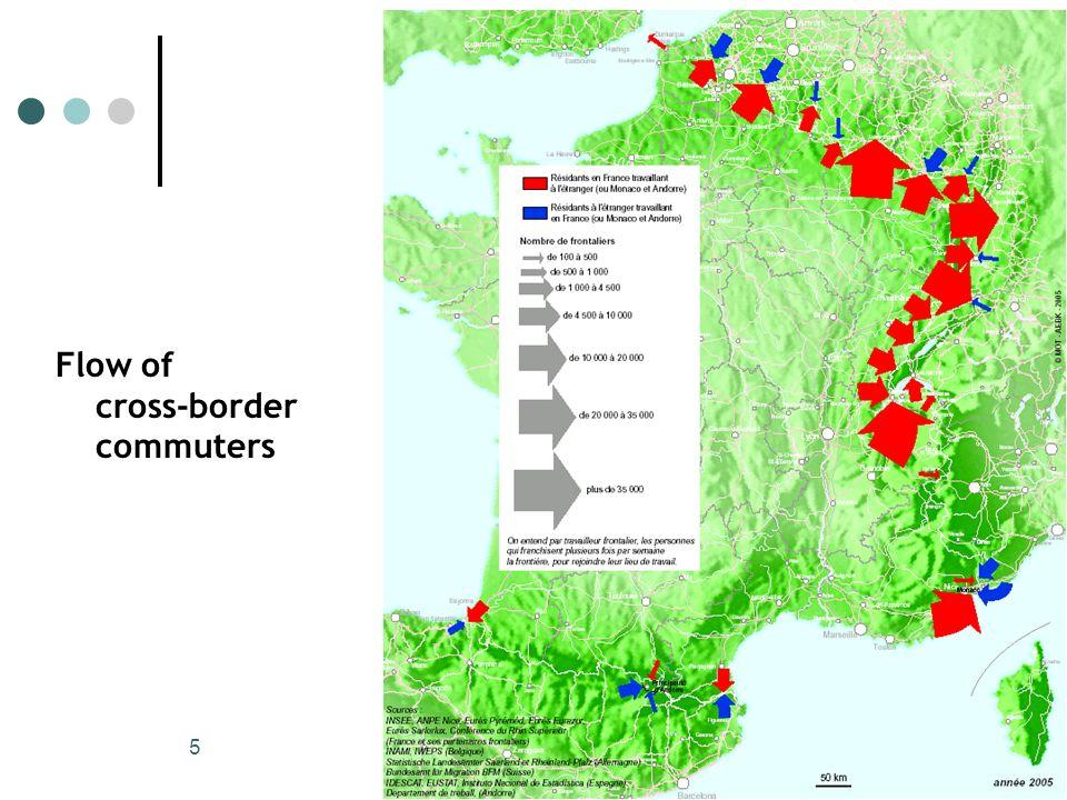 5 Flow of cross-border commuters