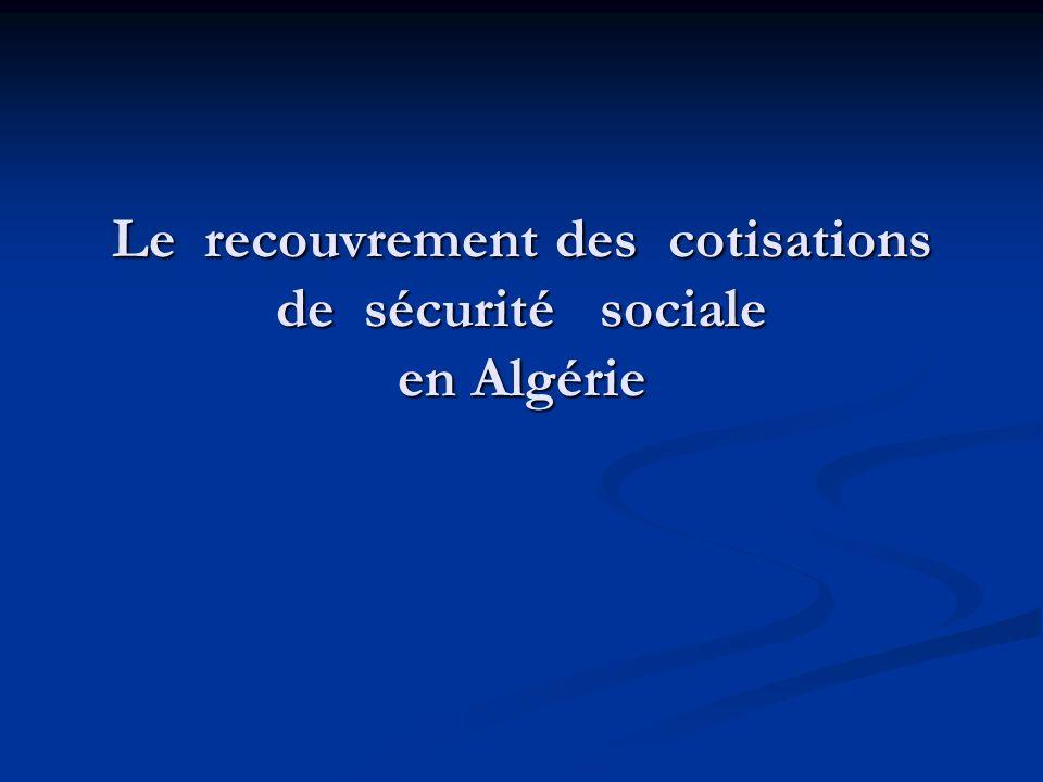 Le régime de sécurité sociale constitue lun des principaux instruments de la solidarité nationale pour la société Algérienne.