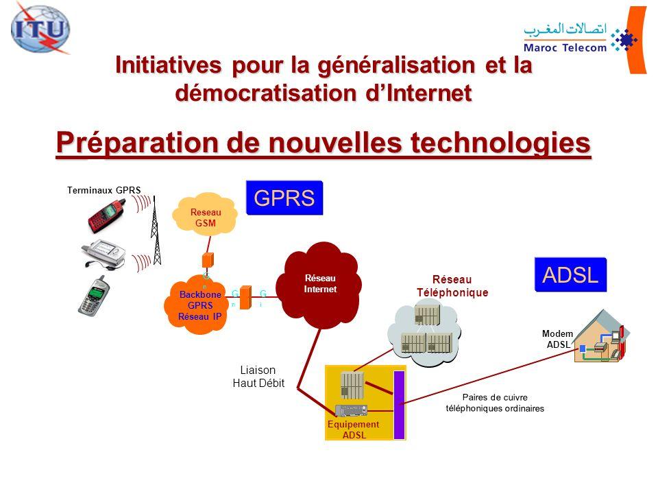 Initiatives pour la gnralisation et la dmocratisation dInternet Initiatives pour la généralisation et la démocratisation dInternet Prparation de nouve