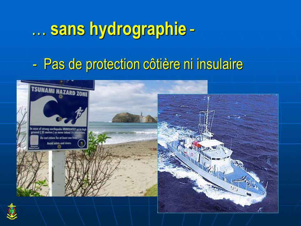 … sans hydrographie - - Pas de protection côtière ni insulaire
