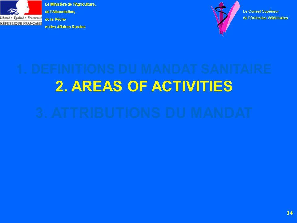 15 Le Ministère de lAgriculture, de lAlimentation, de la Pêche et des Affaires Rurales Le Conseil Supérieur de lOrdre des Vétérinaires 2.