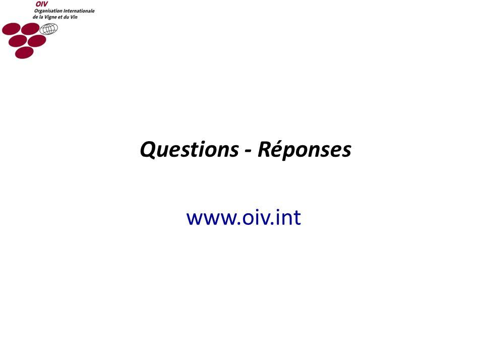 Questions - Réponses www.oiv.int