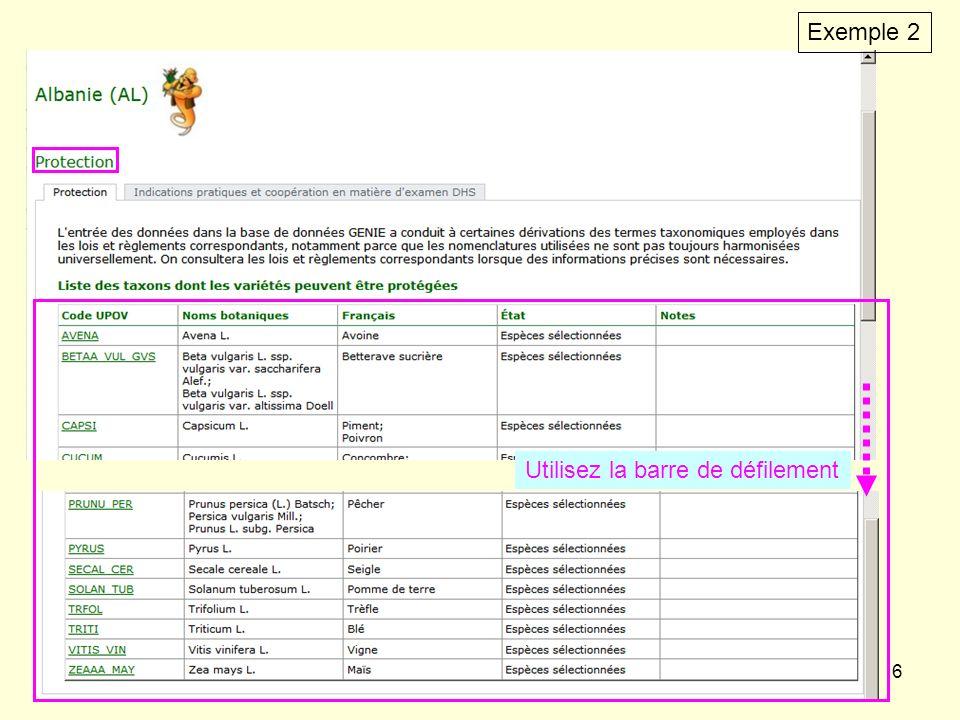 7 Pour copier linformation dans un tableur Excel ou un tableau Word (attention, seulement depuis Microsoft Internet Explorer): - sélectionnez le texte, copiez et…