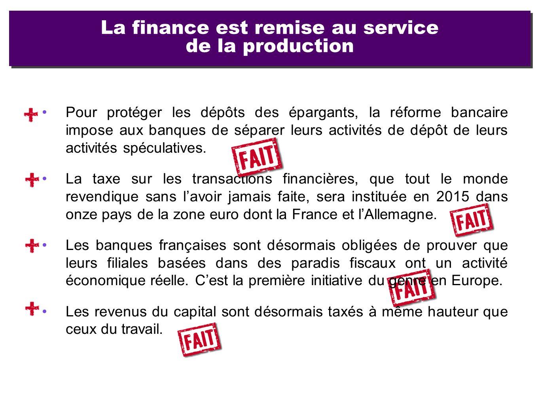 Pour protéger les dépôts des épargants, la réforme bancaire impose aux banques de séparer leurs activités de dépôt de leurs activités spéculatives. La