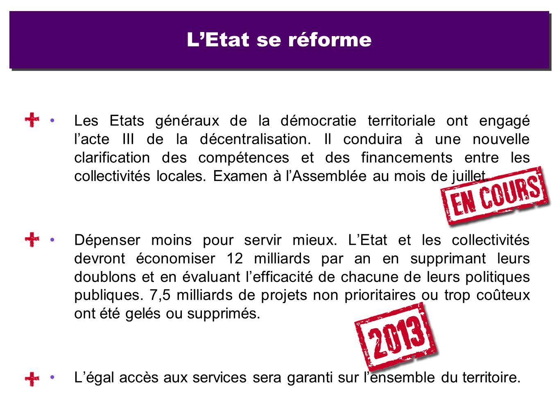 Les Etats généraux de la démocratie territoriale ont engagé lacte III de la décentralisation. Il conduira à une nouvelle clarification des compétences