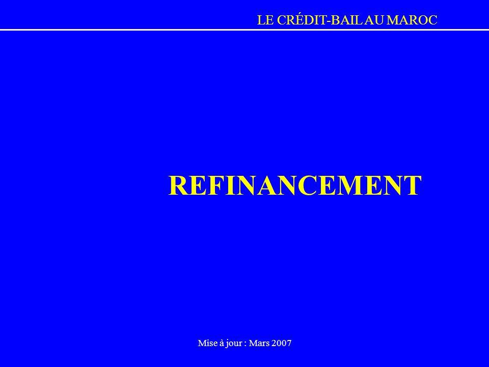 LE CRÉDIT-BAIL AU MAROC Mise à jour : Mars 2007 REFINANCEMENT