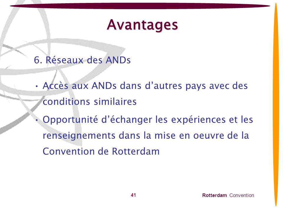 Rotterdam Convention 42 Avantages 7.
