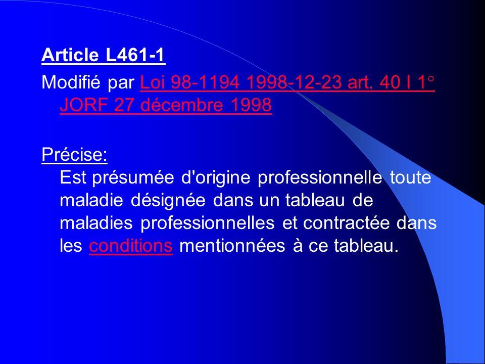 Article L461-1 Modifié par Loi 98-1194 1998-12-23 art. 40 I 1° JORF 27 décembre 1998Loi 98-1194 1998-12-23 art. 40 I 1° JORF 27 décembre 1998 Précise: