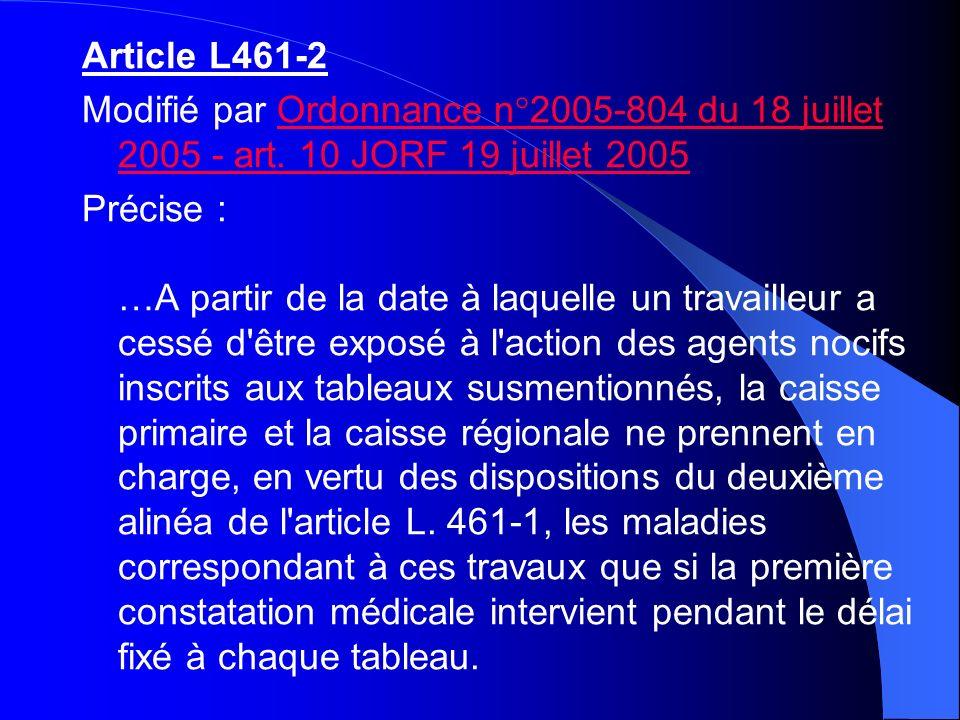 Article L461-1 Modifié par Loi 98-1194 1998-12-23 art.