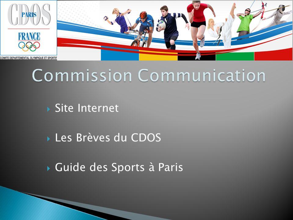 Site Internet Les Brèves du CDOS Guide des Sports à Paris