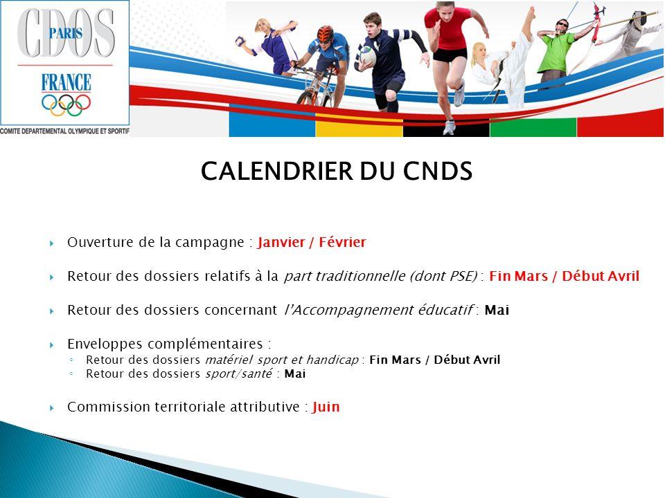 Ouverture de la campagne : Janvier / Février Retour des dossiers relatifs à la part traditionnelle (dont PSE) : Fin Mars / Début Avril Retour des doss