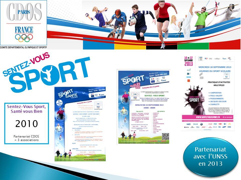Partenariat avec lUNSS en 2013 Sentez-Vous Sport, Santé vous Bien 2010 Partenariat CDOS + 3 associations
