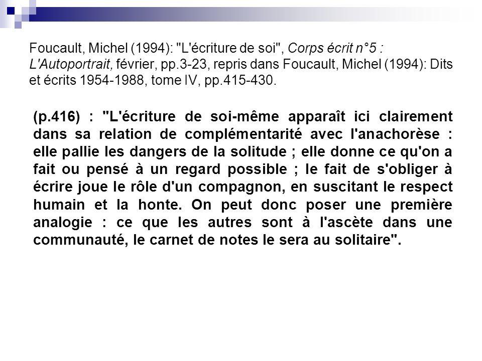 Foucault, Michel (1994):