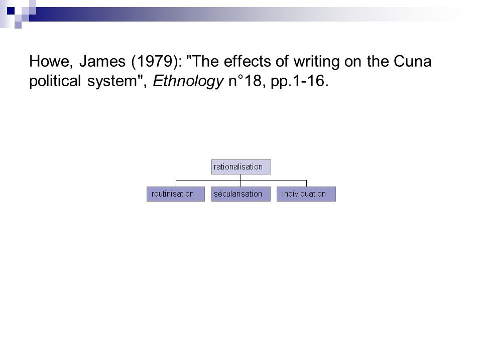 Howe, James (1979):