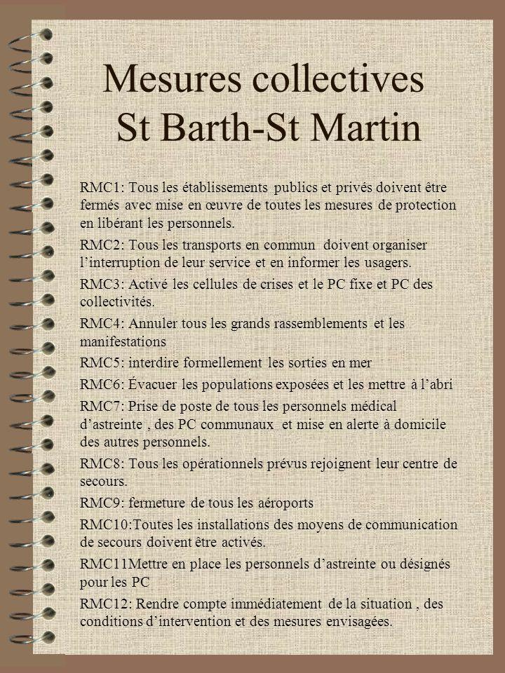 Mesures collectives St Barth-St Martin RMC1: Tous les établissements publics et privés doivent être fermés avec mise en œuvre de toutes les mesures de