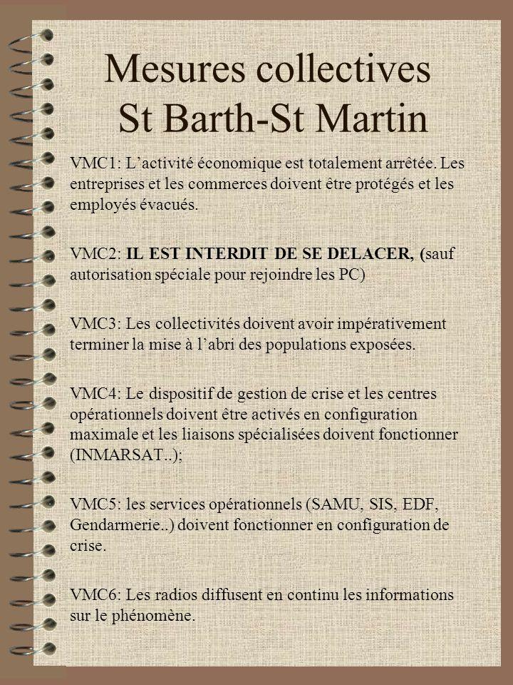 Mesures collectives St Barth-St Martin VMC1: Lactivité économique est totalement arrêtée. Les entreprises et les commerces doivent être protégés et le
