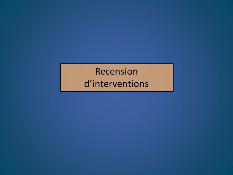Recension dinterventions