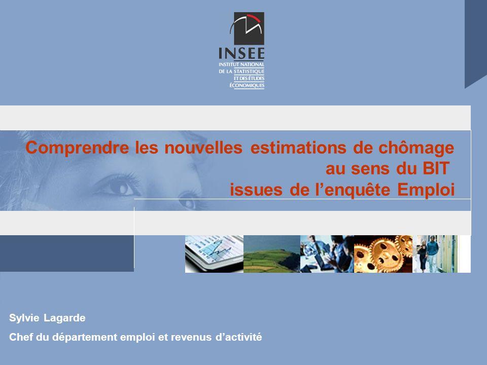 Sylvie Lagarde Chef du département emploi et revenus dactivité Comprendre les nouvelles estimations de chômage au sens du BIT issues de lenquête Emplo