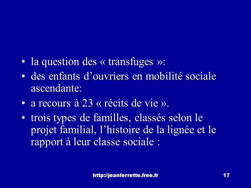 http://jeanferrette.free.fr16 Une question relative à la réussite scolaire: Y a-t-il différents types de mobilisation des ressources, quelle part resp