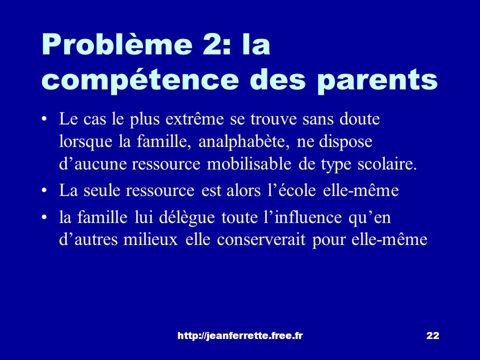http://jeanferrette.free.fr21 Problème 1: la socialisation quen est-il si la stratégie familiale ne rencontre pas ladhésion de lenfant ? « Il est vrai