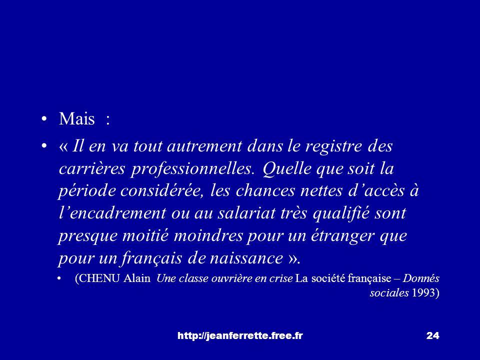 http://jeanferrette.free.fr23 La réussite scolaire suffit-elle? au collège, les élèves étrangers ou issus de limmigration réussissent mieux