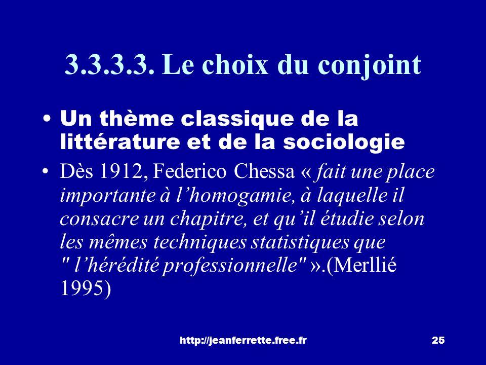 http://jeanferrette.free.fr24 Mais : « Il en va tout autrement dans le registre des carrières professionnelles. Quelle que soit la période considérée,