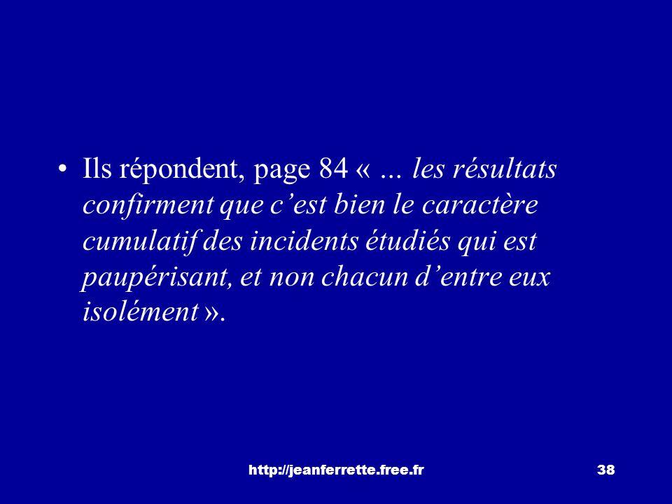 http://jeanferrette.free.fr37 Victor Scardigli et Pierre-Alain Mercier ont réalisé en 1978 une étude sur « la différenciation progressive dune générat