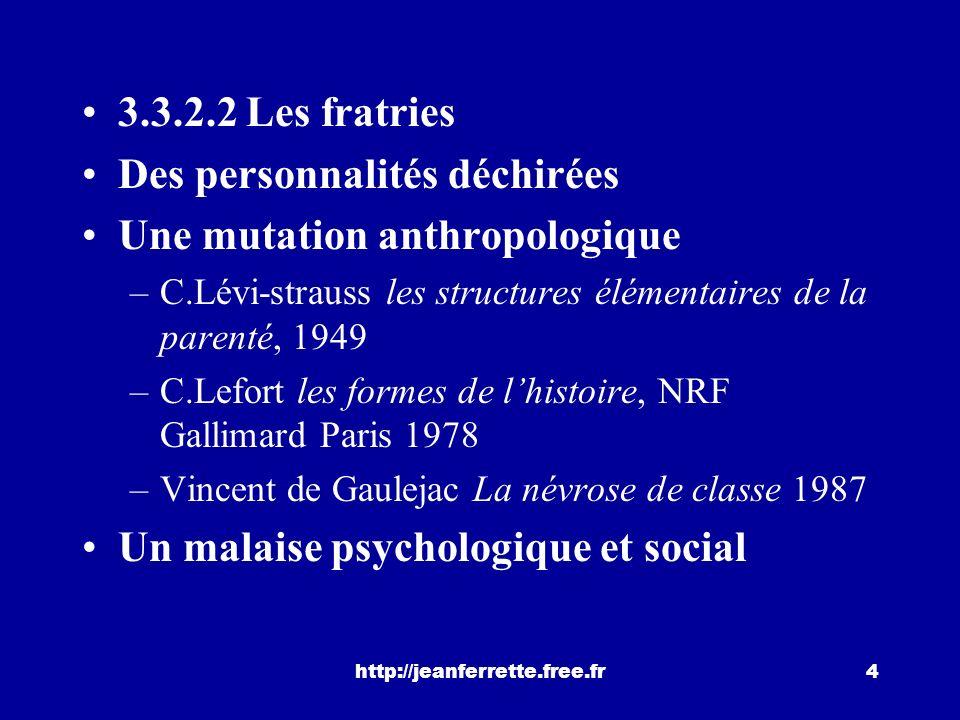 http://jeanferrette.free.fr3 les 5 variables les plus significatives pour exprimer le sentiment de « réussite sociale ». 1) Leffet catégorie sociale 2