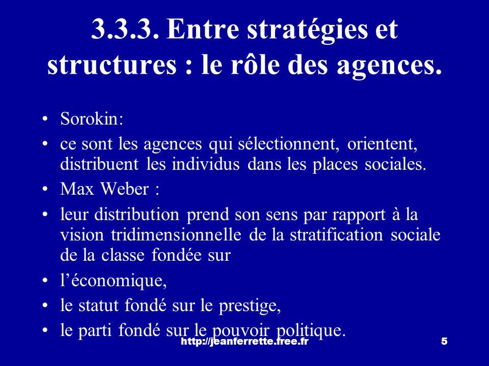 http://jeanferrette.free.fr35 CONCLUSION Nous avons vu comment les acteurs sociaux se classent, et comment ils apprécient leur mobilité sociale.