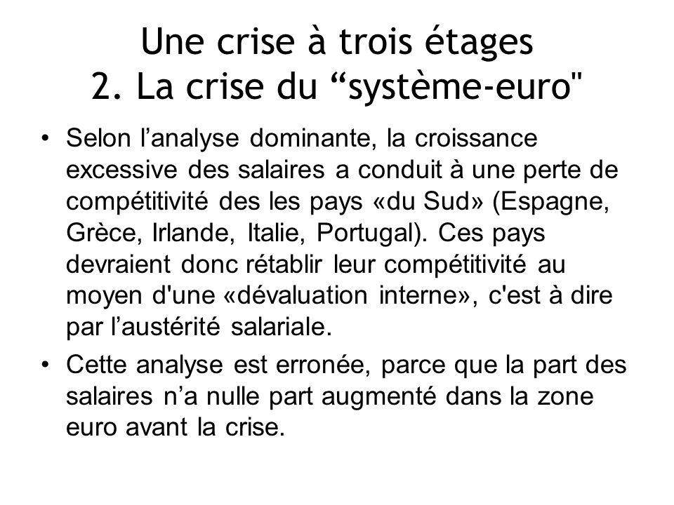 Les effets combinés de la c rise et des réformes structurelles