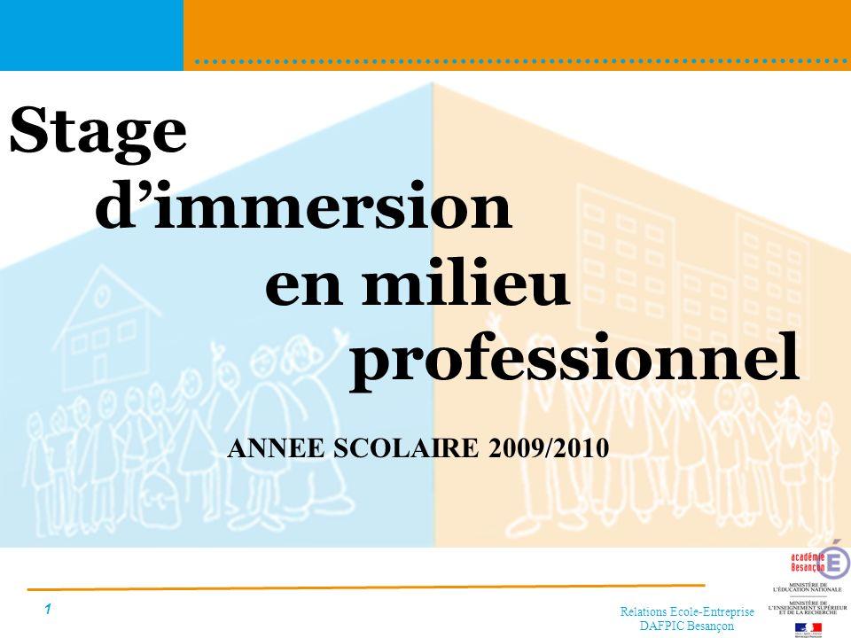 Relations Ecole-Entreprise DAFPIC Besançon