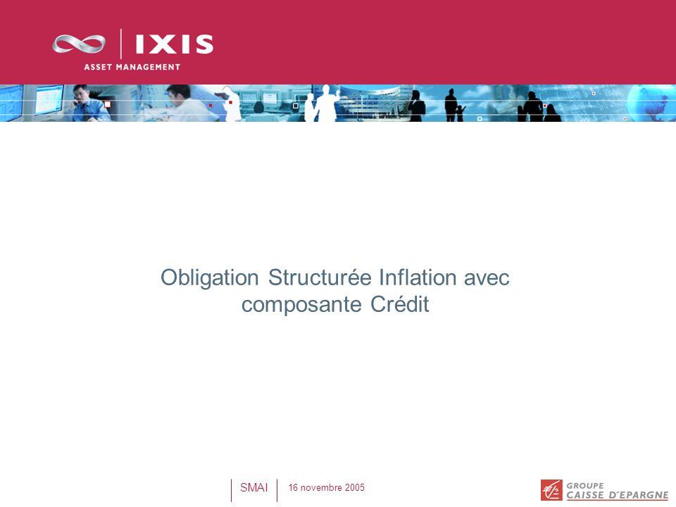 16 novembre 2005 SMAI Obligation Structurée Inflation avec composante Crédit