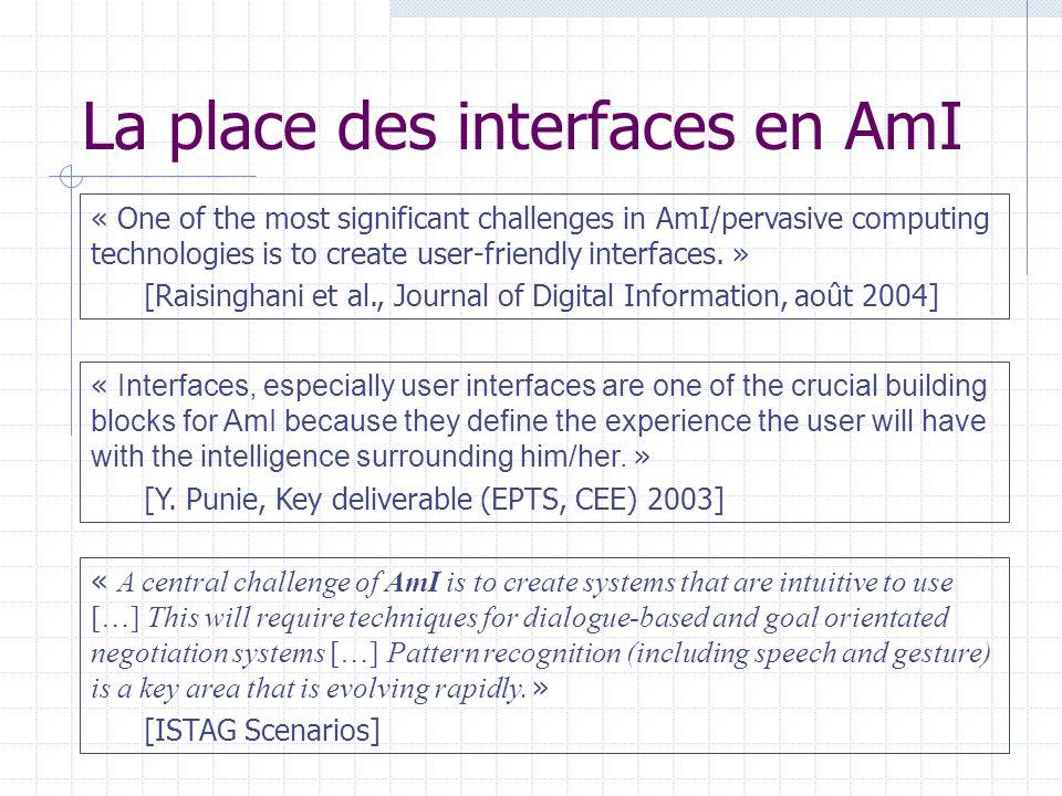Exemple 2 : EMBASSI project Langage de description des interfaces basé sur XML: Multiplicité des interfaces Name: Please enter your name.