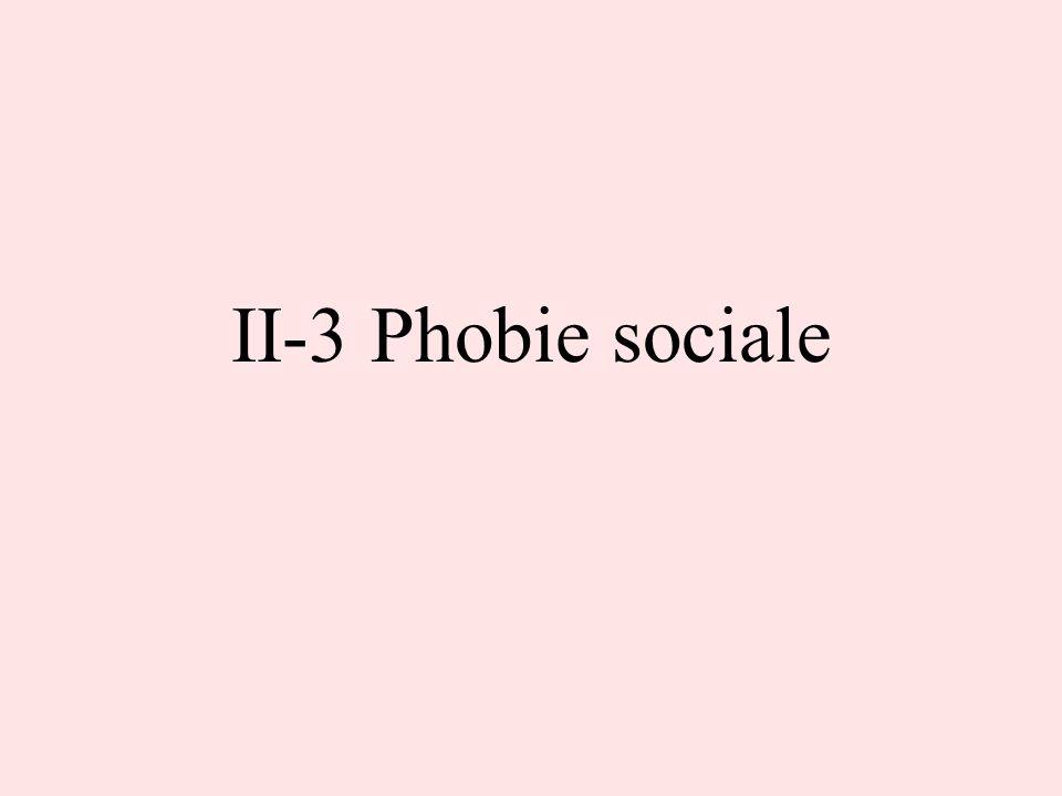 II-3 Phobie sociale