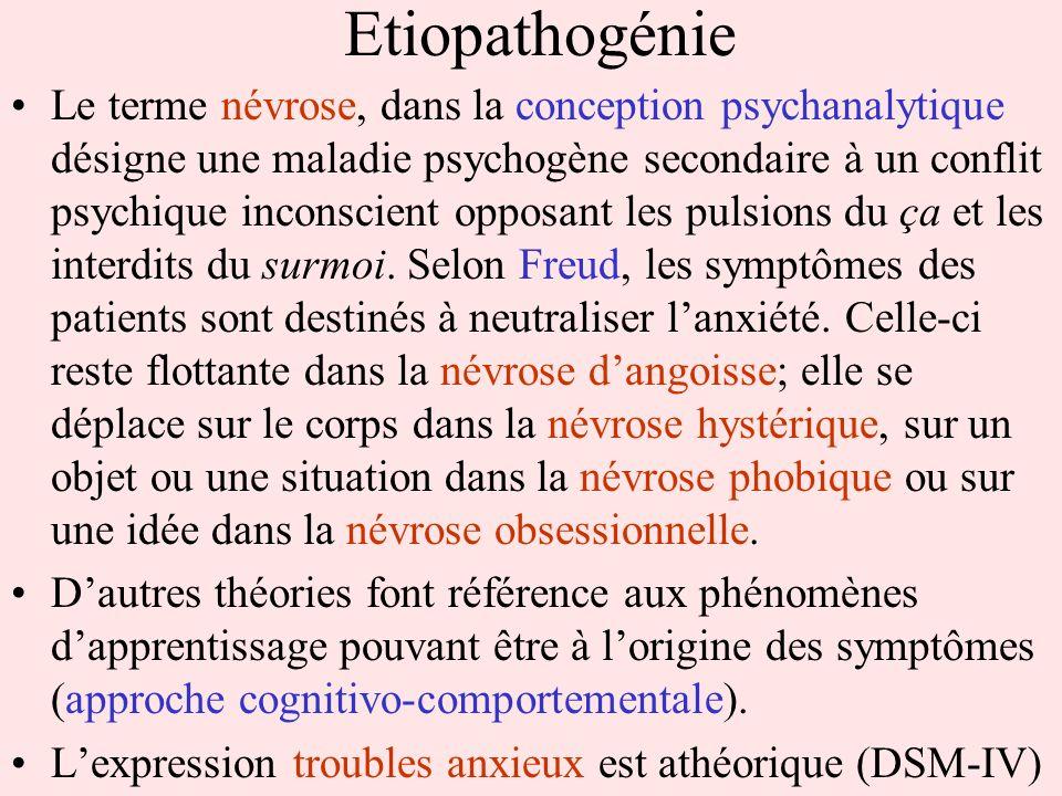 Etiopathogénie Le terme névrose, dans la conception psychanalytique désigne une maladie psychogène secondaire à un conflit psychique inconscient oppos