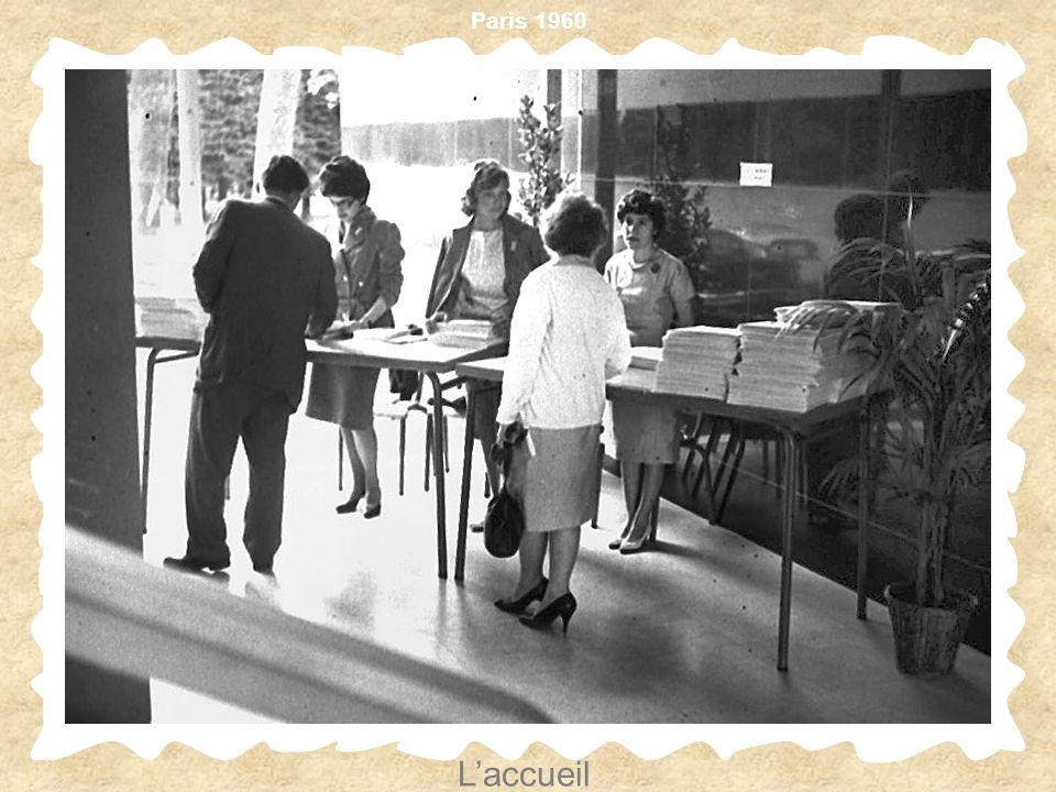 Paris 1960 Laccueil