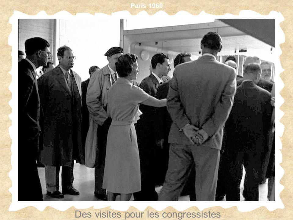 Paris 1960 Des visites pour les congressistes