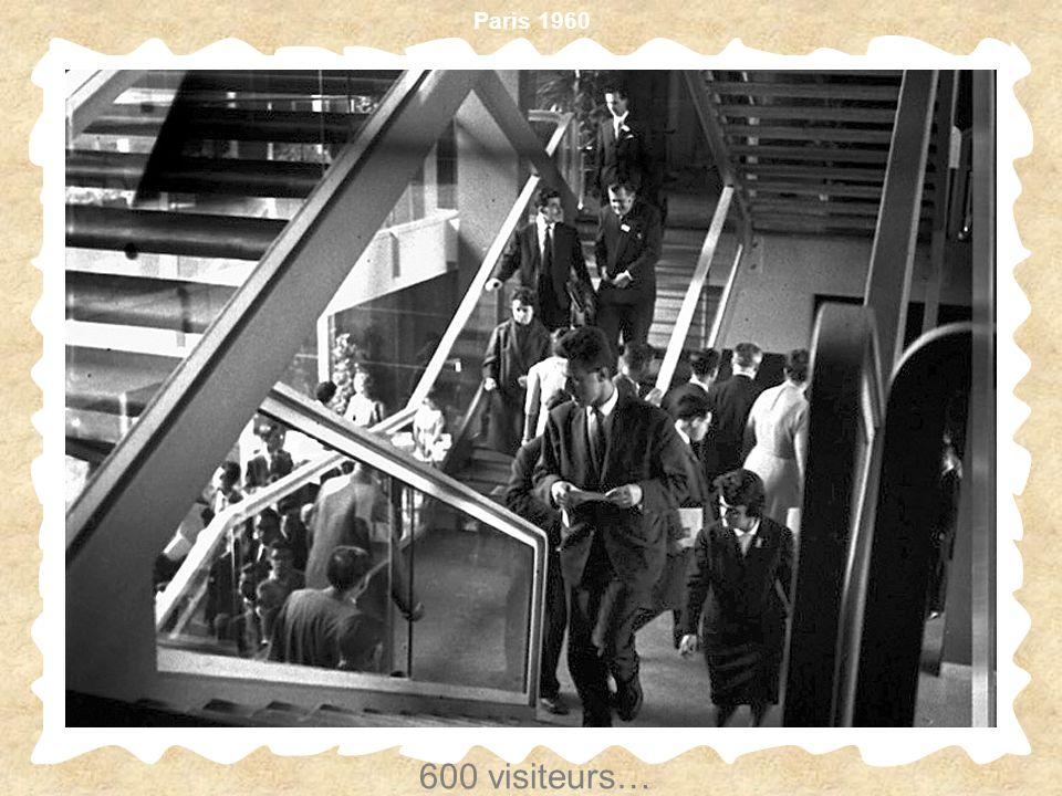 Paris 1960 600 visiteurs…