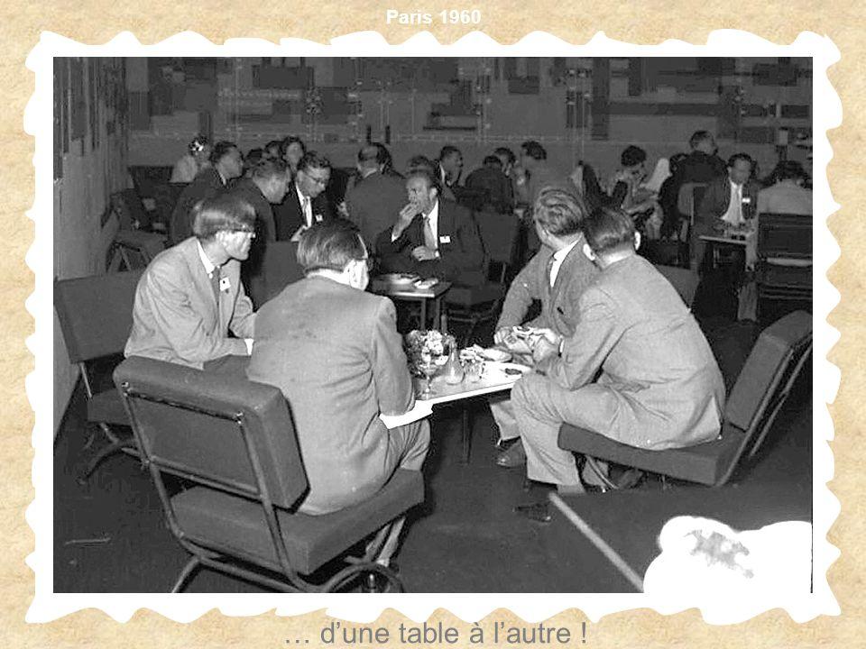 Paris 1960 … dune table à lautre !