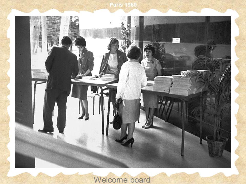 Paris 1960 Welcome board