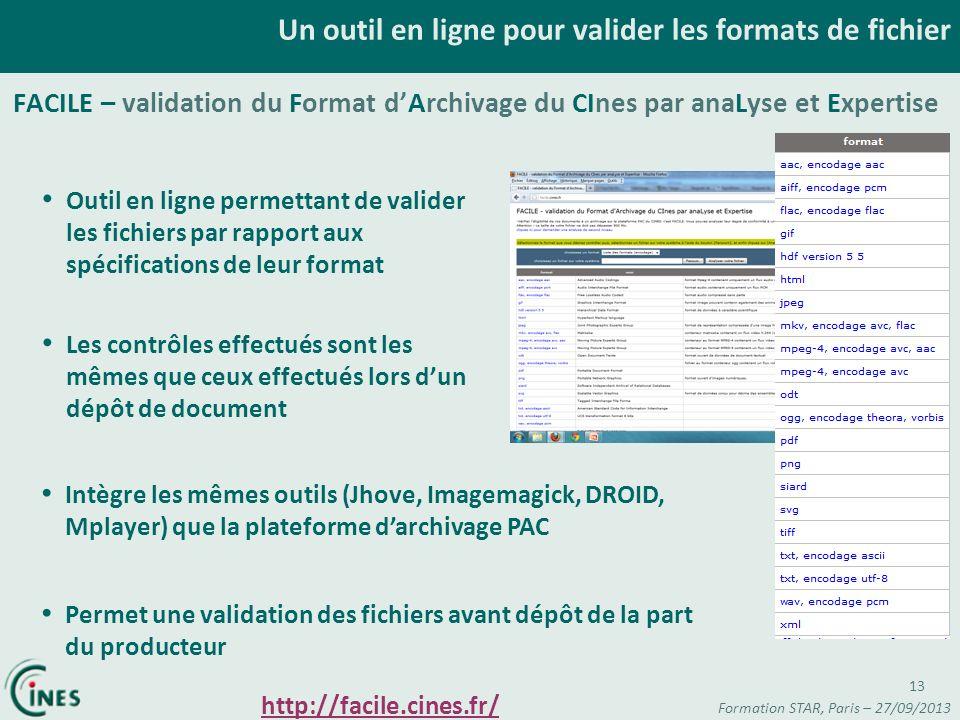 Un outil en ligne pour valider les formats de fichier Outil en ligne permettant de valider les fichiers par rapport aux spécifications de leur format