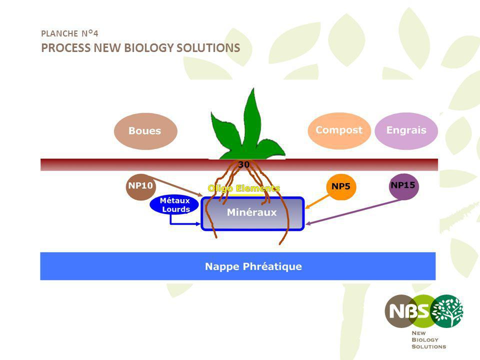 PLANCHE N°4 PROCESS NEW BIOLOGY SOLUTIONS
