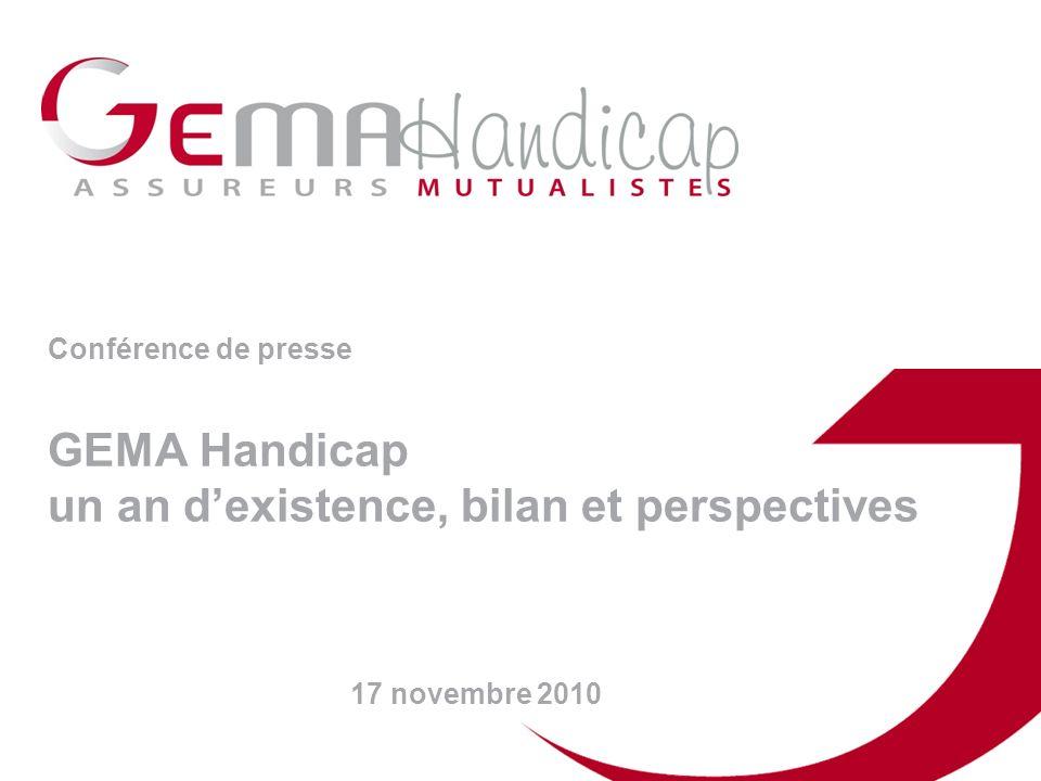 Conférence de presse GEMA Handicap un an dexistence, bilan et perspectives 17 novembre 2010