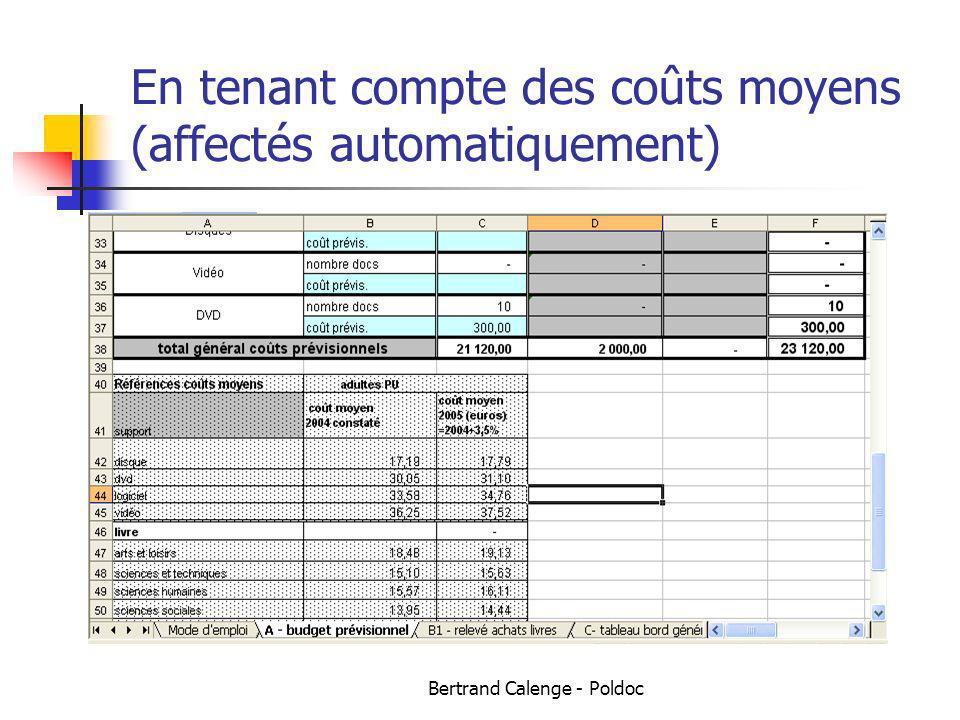 Bertrand Calenge - Poldoc En tenant compte des coûts moyens (affectés automatiquement)