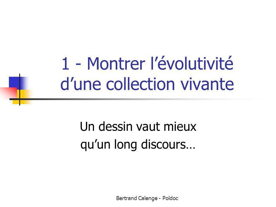 Bertrand Calenge - Poldoc 1 - Montrer lévolutivité dune collection vivante Un dessin vaut mieux quun long discours…