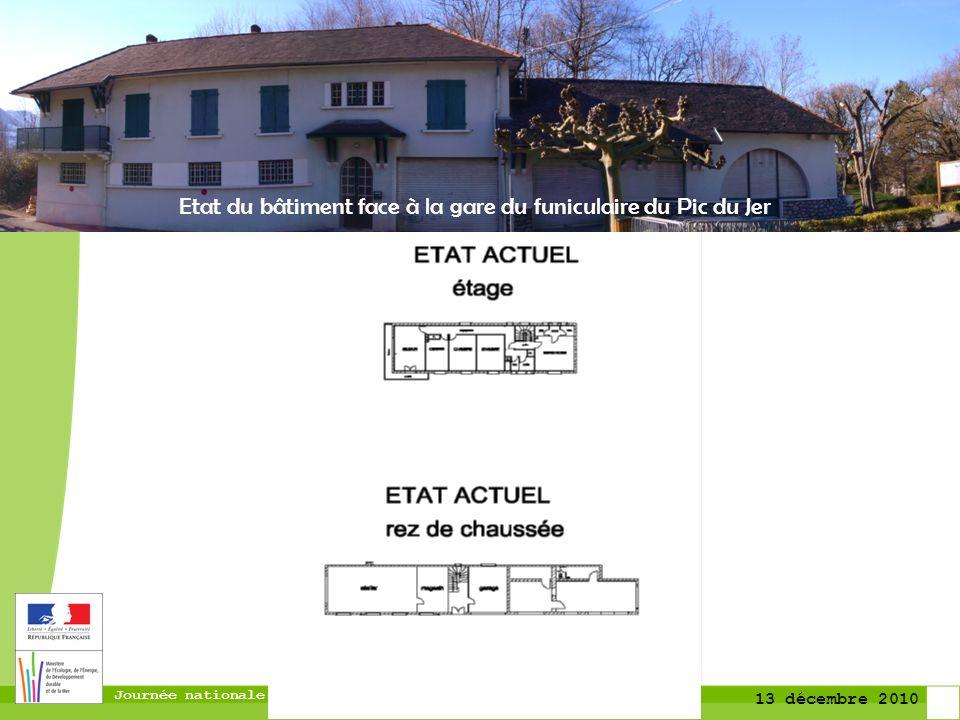 Journée nationale du Plan Séisme 13 décembre 2010 Etat du bâtiment face à la gare du funiculaire du Pic du Jer