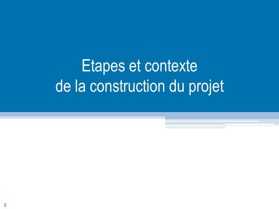 2 Etapes et contexte de la construction du projet