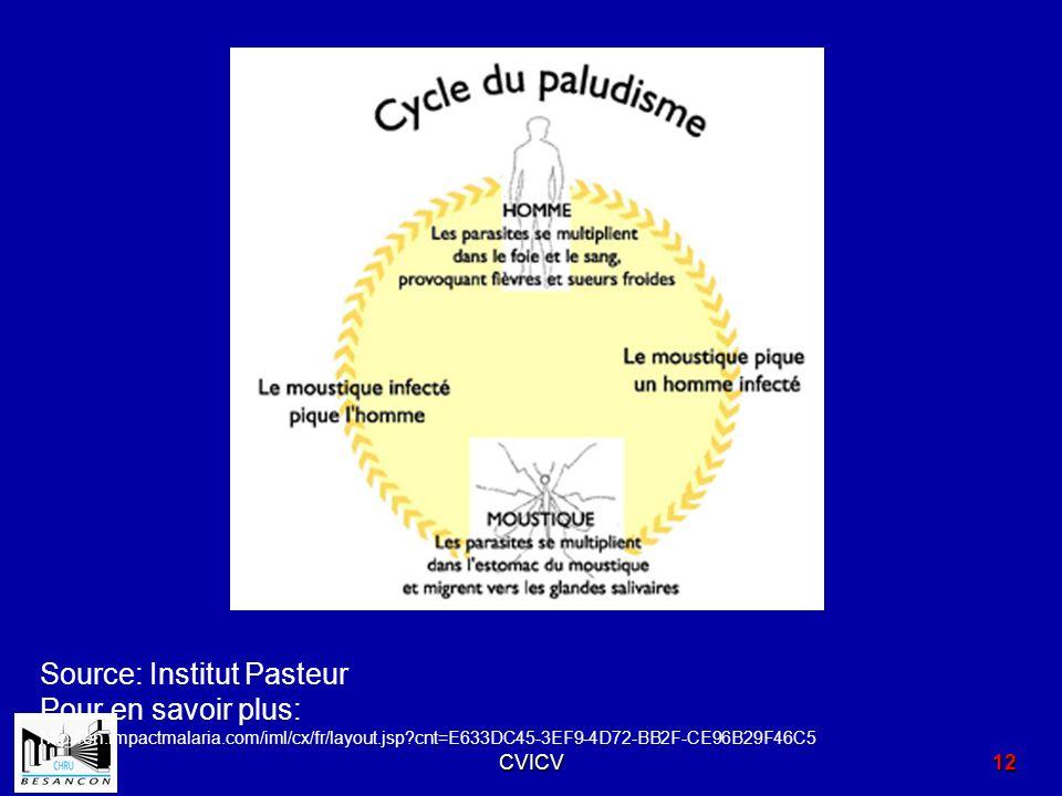 Source: Institut Pasteur Pour en savoir plus: http://en.impactmalaria.com/iml/cx/fr/layout.jsp?cnt=E633DC45-3EF9-4D72-BB2F-CE96B29F46C5 CVICV12