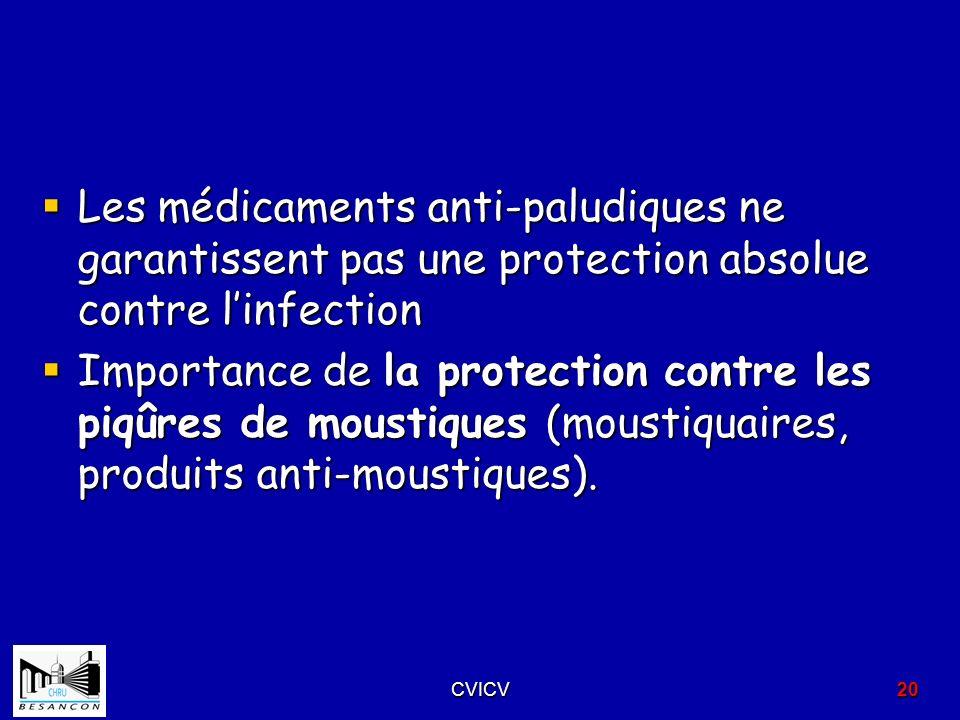 Les médicaments anti-paludiques ne garantissent pas une protection absolue contre linfection Les médicaments anti-paludiques ne garantissent pas une p